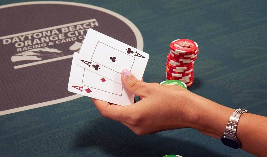 Poker Cards and Chips, Poker Promotions, Daytona Beach Racing & Card Club